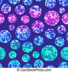 seamless, diamant, pattern., cercle
