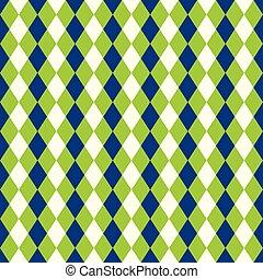 Seamless diamond harlequin background pattern