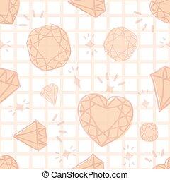 seamless diamond pattern.
