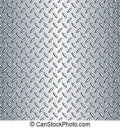 Seamless Diamond Plate Texture - Steel diamond plate...