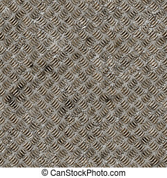 Seamless diamond steel plate texture.