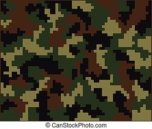 Seamless digital camouflage - Seamless pattern of digital...