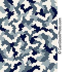 Seamless digital camouflage - Seamless digital fashion...