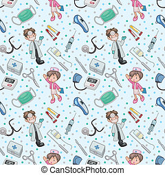 seamless doctor pattern  - seamless doctor pattern