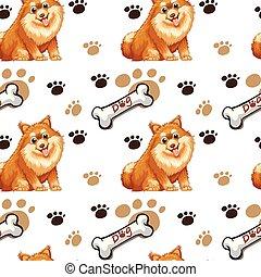 Seamless dog - Illustration of a seamless dog and bone