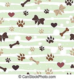 Seamless Dog Paw Pattern