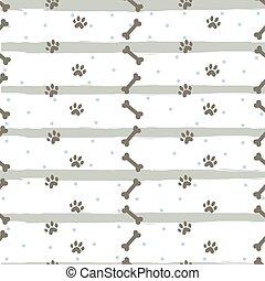 Seamless Dog Paw Pattern.