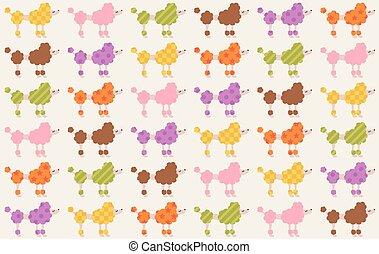seamless dogs cartoon pattern
