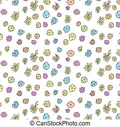 Seamless doodle floral pattern