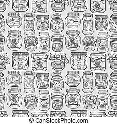 seamless doodle jam pattern