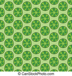Seamless doodle lime pattern