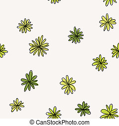 Seamless doodle pattern of flowers