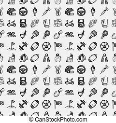 seamless doodle sport pattern