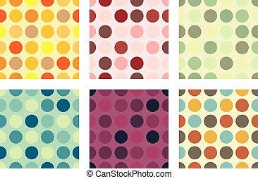 Seamless Dots Background Set