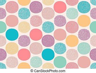 seamless dots circle pattern