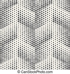 Seamless Dots Pattern. Abstract Black and White Halftone Background