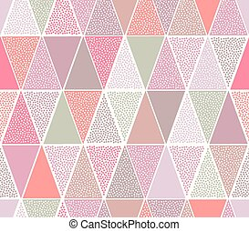 seamless dots triangle pattern
