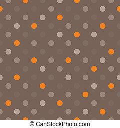 Seamless dots vector dark pattern