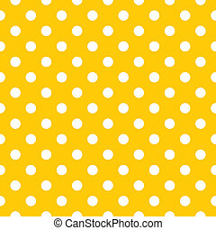 Seamless dots vector yellow pattern
