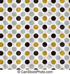 seamless dotted golden background