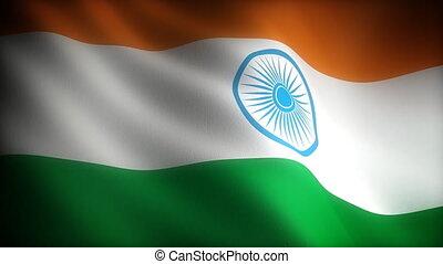 (seamless), drapeau, inde