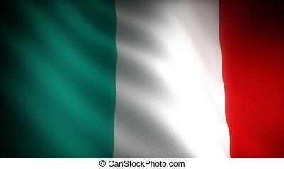 (seamless), drapeau, italie
