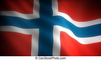 (seamless), drapeau, norvège