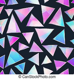 seamless, driehoek, paarse , pattern.