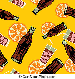 Seamless drink pattern - Illustration vector