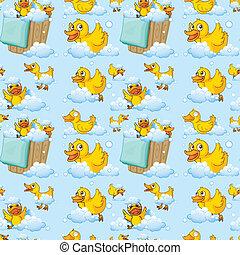 Seamless ducks