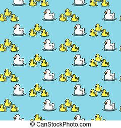 Seamless ducks pattern