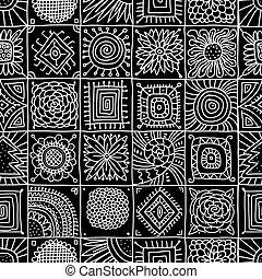 seamless, -e, geometriai, elvont, példa tervezés