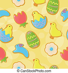 Seamless Easter cookie background