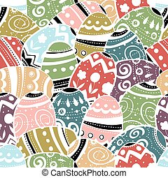 Seamless easter eggs pattern colorful background