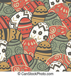 Seamless easter eggs pattern.