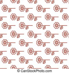 Seamless Easter pattern with the image of flowers.