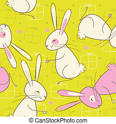 Seamless Easter Rabbit Pattern