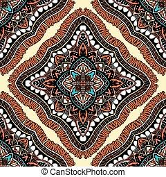 Seamless, eastern pattern of mandalas