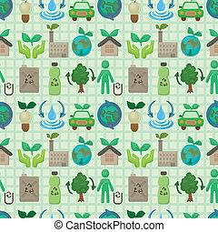seamless eco icon pattern
