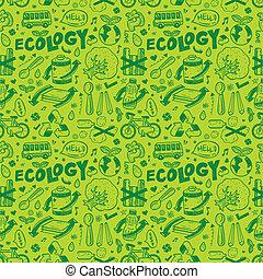 seamless, ecologia, padrão