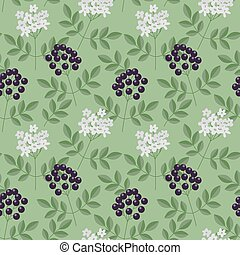 Seamless elderberry pattern