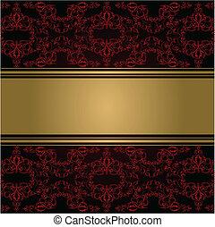 seamless, element, victoriaans, vector, grens, style., design.