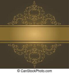 seamless, elemento, vitoriano, vetorial, borda, style., design.
