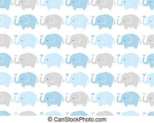 seamless elephant cartoon pattern