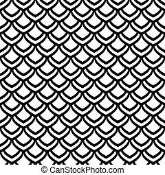 seamless, escalas, pattern.