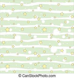 seamless, estrelas, simples, padrão