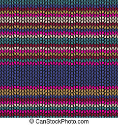 Seamless Ethnic Color Striped Knitted Pattern