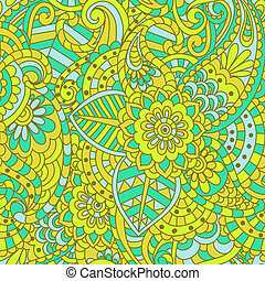seamless ethnic floral pattern