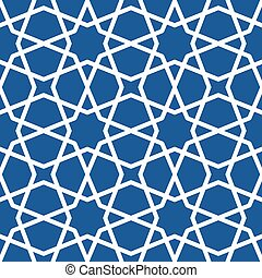 Seamless ethnic grating ornament - starry arabian pattern
