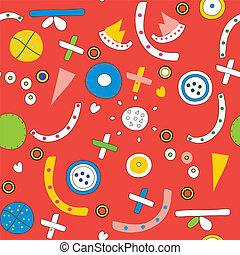 Seamless ethnic pattern funny design